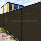 Customize Brown 4' 5' 6' 8' (H) Fence Privacy Wind Screen Mesh Cover w/Zip