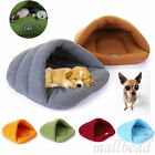 Pet Cat Dog Nest Bed Puppy Soft Warm Cave House Sleeping Bag Mat Pad S M L UK