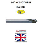 NC SPOT DRILL EUROPA TOOLS ENGINEERING 3 4 5 6 8 10 12 16 20 PART 821402