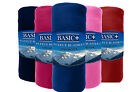 Bulk Lot Of 12 Fleece Throw Blankets SOLD BY Color Wholesale 50x60 Solid Color