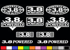 10 DECAL SET 3.8 L V6 HO POWERED ENGINE STICKERS EMBLEMS 231 CI VINYL DECALS