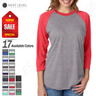 NEW Next Level Premium Unisex Triblend 3/4-Sleeve Raglan XS-2XL T-Shirt M-6051