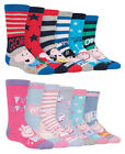 6 Pairs Kids Boys Girls Cotton Character Colourful George Peppa Pig Ankle Socks