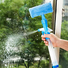 Window Glass Cleaner Wiper Scraper Brush Cleaning Tools with Cloth Pad JRAU