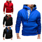 Cool Men's Warm Hooded Sweatshirt Stylish Coat Jacket Outwear Sweater Hoodies