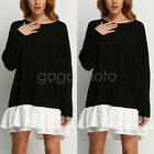 New Hot Women Ladies Loose T Shirt Tops Long Sleeve Party Dress Casual Blouse