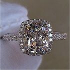 SZ 5-10 Jewelry 925 silver filled white topaz  Wedding  Ring gift Christmas gift
