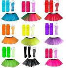 4-7 or 8-12 Years CHILDRENS Neon Tutu / Gloves Legwarmers Set 80s Fancy Dress
