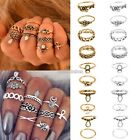 Retro 10Pcs Silver Gold Boho Fashion Arrow Moon Midi Finger Knuckle Rings N98B