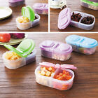1X Clear Food Refrigerator Storage Box Containers With Multi Colour Lids  JR