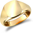 Jewelco London Men's Solid 9ct Yellow Gold Square Cushion Signet Ring
