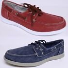SPERRY TOP SIDER DEFENDER MEN'S CANVAS 2 EYE BOAT SHOES ST12674 MEMORY FOAM NEW