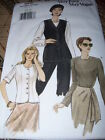 VOGUE #9412 - LADIES SEMI FITTED SHORT - LONG or SLEEVELESS TOP PATTERN  6-22 FF