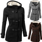 Fashion UK 8-24 Women Winter Warm Hooded Coat Jacket Long Parka Festival Outwear