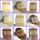 """7Pcs/set 100% Clip in Real Human Hair Extensions 16""""18""""20""""22"""" 6 Colors 70g 80g"""