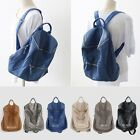 New POPKORS P235 Women Vintage Silver Zip Genuine Leather Biker Backpack Bookbag
