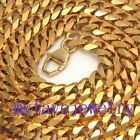 11mm Never Fade Gold IP Plated 316L Stainlesss Steel  6 Faceted Cuban Necklace