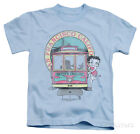 Juvenile: Betty Boop - Betty's Trolley Apparel Kids T-Shirt - Light Blue $14.99 USD on eBay