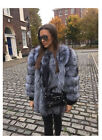 NEW Winter Real Whole Skin Fox Fur Coat Thickness Outwear Lady Jacket Luxury