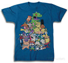 Nickeloeon Super Group Family Portrait Apparel T-Shirt - Royal Heather
