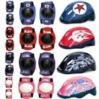 SK8 KIDS BIKE SKATE SCOOTER PADDED SAFETY HELMET CHILDRENS KNEE ELBOW PAD SET