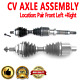 Front Pair CV Joint Axle Shaft for VOLVO S80 99-06 FWD L5 2.5L L6 2.9L
