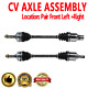 Front Pair CV Joint Axle Shaft for GEO METRO 95-97 L4 1.3L Manual Transmission
