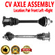 Front CV Joint Axle Shaft Pair Set For AUDI S4 2004 2005 2006 2007 2008 2009