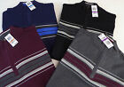 John Ashford 1/2 Zip LS Pullover Sweater w Striped Chest Detail 60 4 Colors 1/4