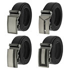 Fashion Genuine Leather Mens Automatic Ratchet Buckle Waist Strap Belts NEW!