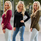 Women Casual Tops New T-Shirt Loose Fashion Blouse Cotton Blouse Long Sleeve