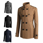 JP New Fashion Coat Double Breasted Peacoat Long Men Jacket Winter Top
