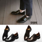 New GDH503 Italian Leather Mens Casual Fomal Lace Up Dress Shoes Plain Toe Derby