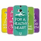 HEAD CASE DESIGNS WORKOUT INSPIRATIONS SOFT GEL CASE FOR HTC ONE M8