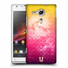 HEAD CASE DESIGNS STUDDED OMBRE BACK CASE FOR SONY XPERIA SP / C5302 / C5303