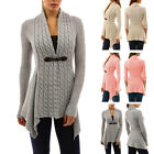 Women Long Sleeve Sweater Top Casual Irregular Knitted Cardigan Outwear Coat