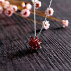 Womens Necklace Ice Flower Necklace Clavicle Chain Inlaid Zircon Pendant Make Up