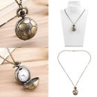 Vintage Retro Bronze Quartz Pocket Dress Watch Pendant Chain Necklace wholesaBF