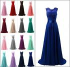 New Appliques Evening Dresses Chiffon Sleeveless Prom Party Gowns UK6-18
