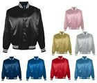 MEN'S LINED, WATER RESISTANT, SNAP FRONT, SATIN, BASEBALL JACKET, POCKETS, S-5XL