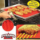 Pyramid Pan Fat Reducing Silicone Cooking Mat Oven Baking Tray Sheets UK Stock