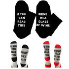 Socks If You Can Read This Bring Me A Glass of Wine Mens Womens Funny Gag Gifts