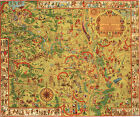 1931 Map History of Military Reservation Fort Sill Oklahoma Wall Art Poster