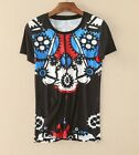 2017 spring&summer occident short sleeve cotton printing T~shirt S M L hot sale