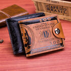 Mens US USD 100 PU Leather Dollar Billfold Coin Credit Card Holder Purse Wallet