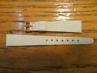 New Old Stock LeJour Watch Leather Bands Off White 15MM Lizard Embossed Pattern
