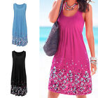 Fashion Women Summer Casual Sleeveless Evening Party Beach Dress Short Dress SEA