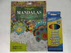 32 page Adult Coloring Book Mandalas Karmin Creations Craft Art Pencil BFR