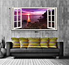 3D Catch the Sun Window View Panoramic Trendy Canvas Print 2 Sizes Ready to Hang