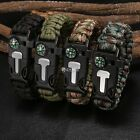 Paracord Survival Bracelet Compass/Flint/Whistle Camping Gear Kit Accessories DZ